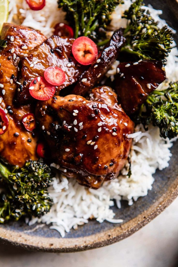 30 Minute Teriyaki Chicken with Sesame Ginger Broccoli | halfbakedharvest.com @hbharvest