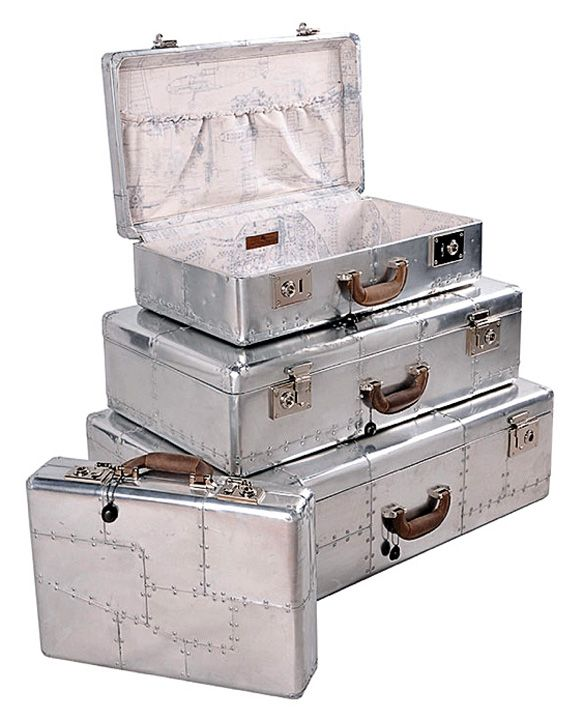 Gentleman's luggage - Timothy Oulton's spitfire collection