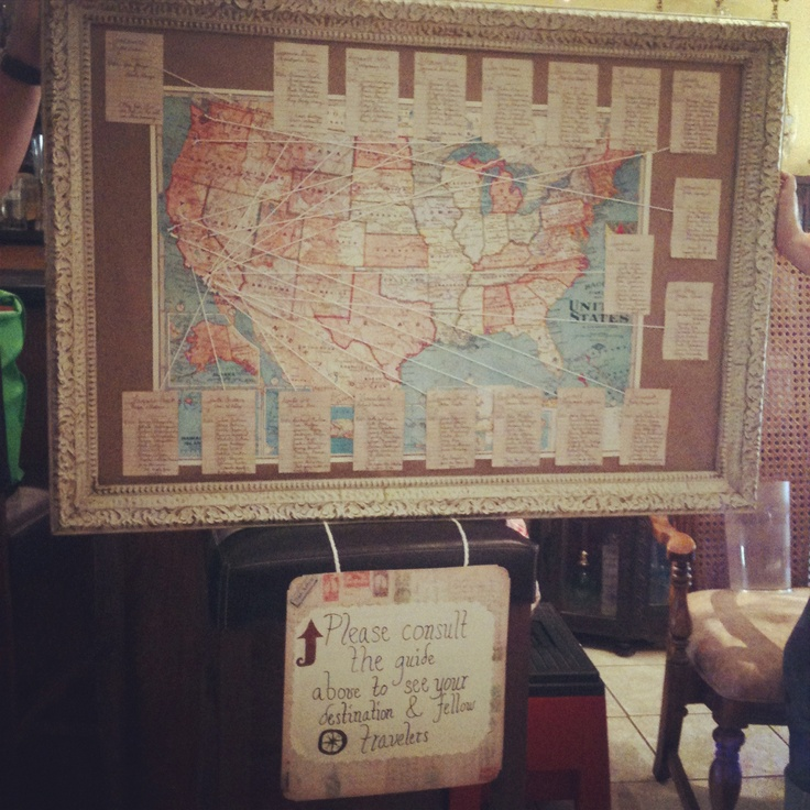Our Map Seating Chart :)