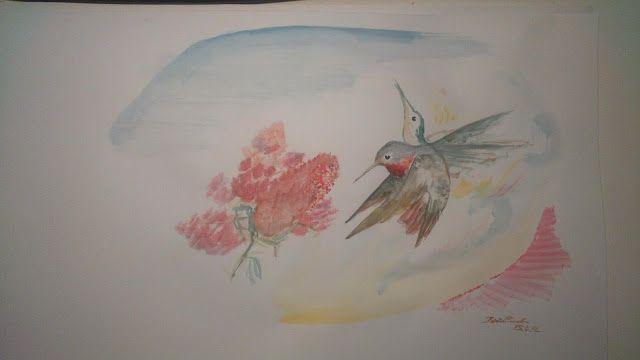 Hummingbird aquarelle