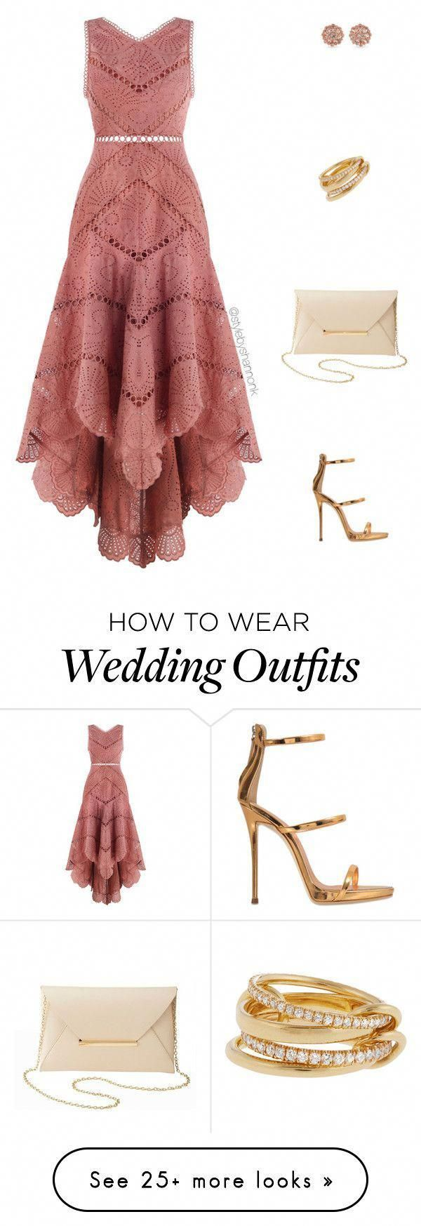 Wedding Guest By Stylebyshannonk On Polyvore Featuring Zimmermann Giuseppe Zan Casual Wedding Outfit Guest Wedding Guest Outfit Summer Casual Wedding Outfit [ 1747 x 600 Pixel ]