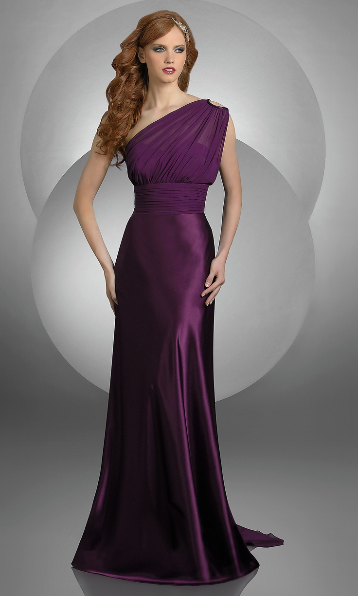 7 best purple images on pinterest dress prom plum dresses and a floor length one shoulder gown in eggplant 218 ombrellifo Image collections