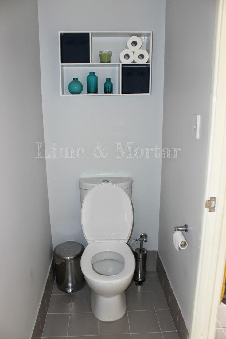 Lime & Mortar: Ensuite & Powder Room - Shelf above toilet