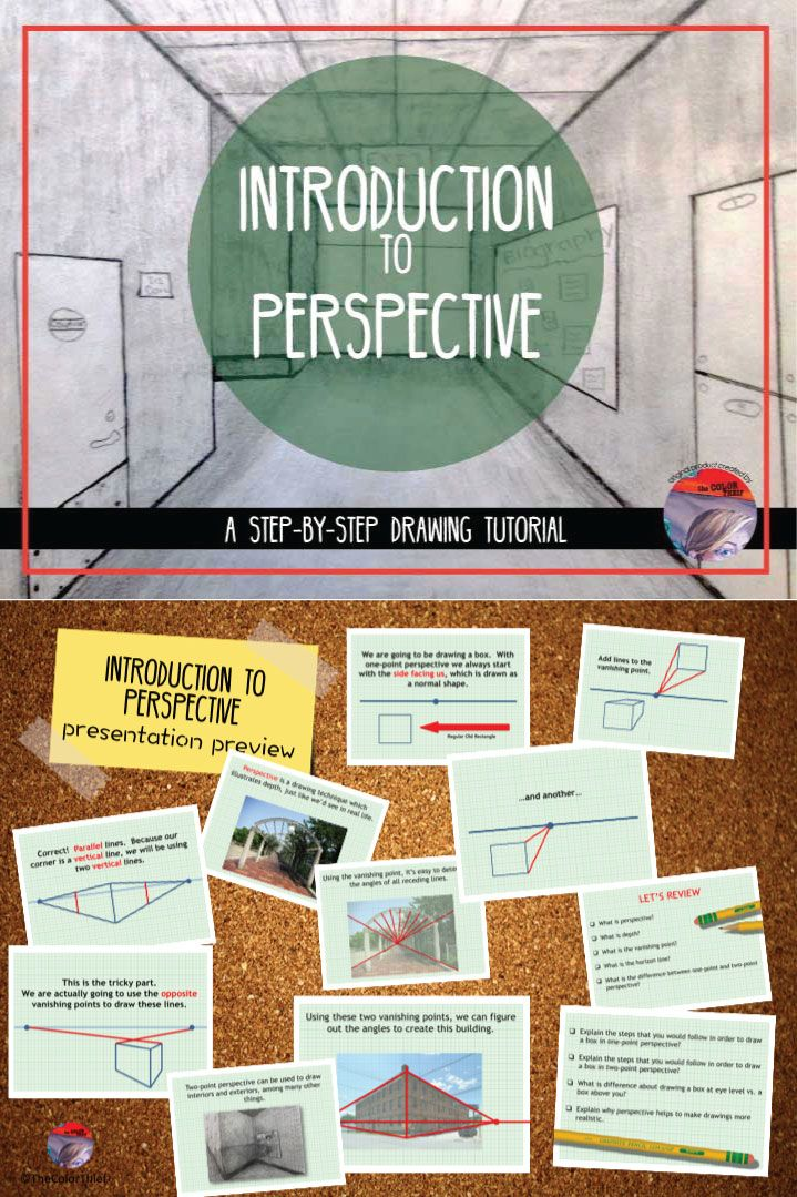 Great way to introduce students to the concept of perspective.  Step by step directions.  #teacherspayteachers #tpt