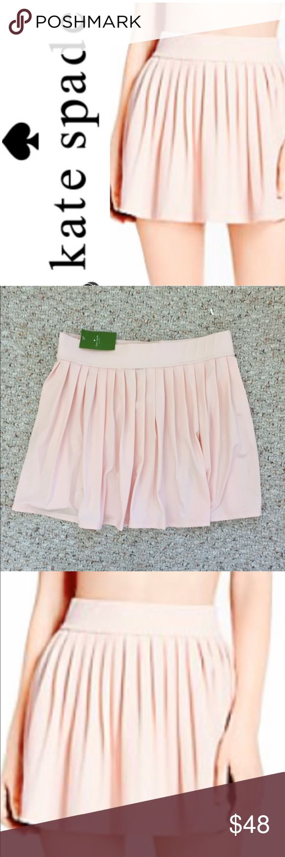 NWT Kate Spade Pleated Swim Skirt Cover Up NWT Kate Spade Georgica Pink Pleated Swim Skirt is perfect for the pool or beach. This whimsical Skirt features an elastic waist with pleats. Just adorable. L fits 8/10. kate spade Swim Coverups