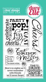 """私たちの4 """"×6""""乾杯明確なスタンプセットには、楽しさとお祝いのギフトタグまたはカードを作成する必要が正確に何である。 ホステスの贈り物を作成するために死ぬ、このセットと私たちのコーディネート乾杯エル-メンツワインタグ鋼を使用し、休日は新年、結婚式の贈り物や理由だけでは、提示します。"""