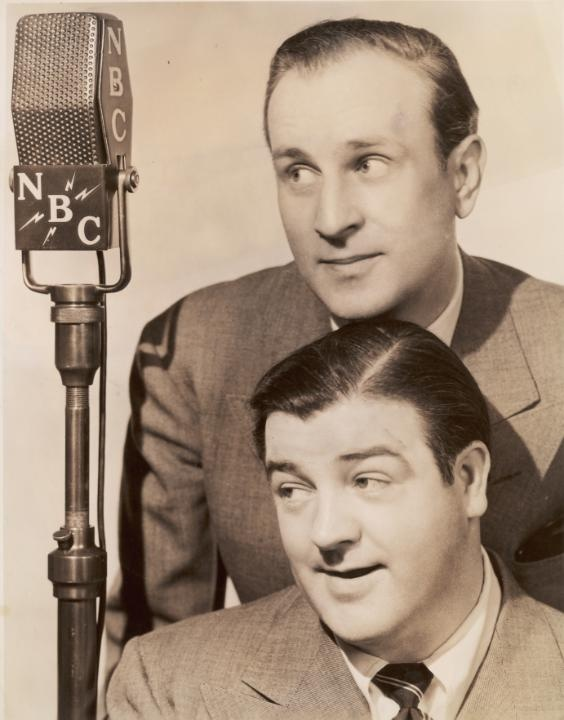 Bud Abbott & Lou Costello...funny men in three mediums: radio, movies and TV.