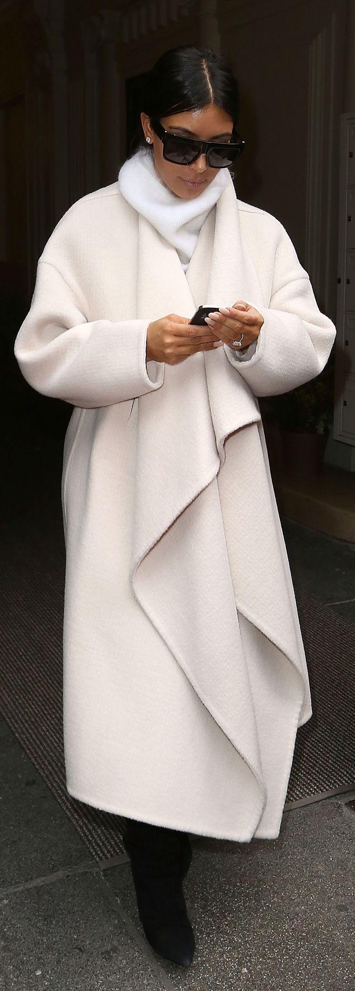 Kim Kardashian's newest coat is a Chloé topper.                                                                                                                                                                                 More
