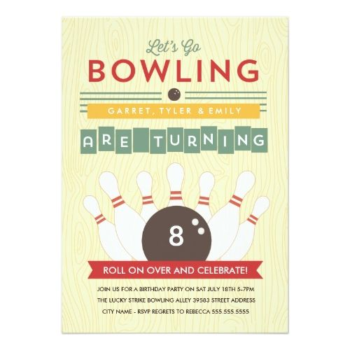 120 best bowling birthday invitations images on pinterest bowling bowling birthday party invitations lets bowl multiple birthday party invitation filmwisefo Choice Image
