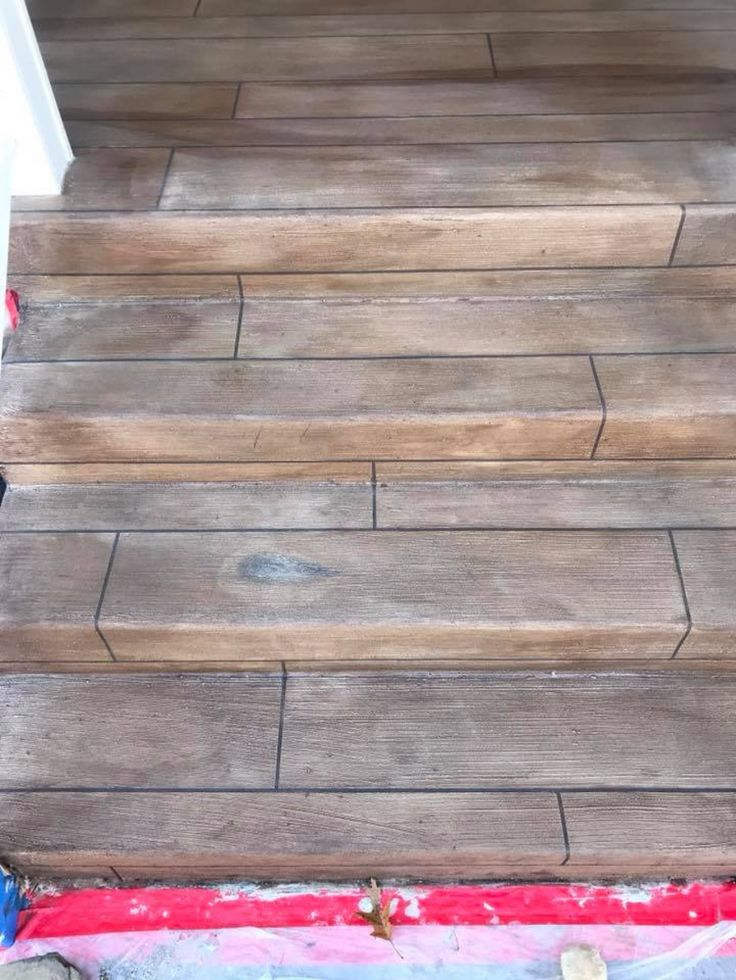 Decorative Concrete Steps In Frederick Maryland