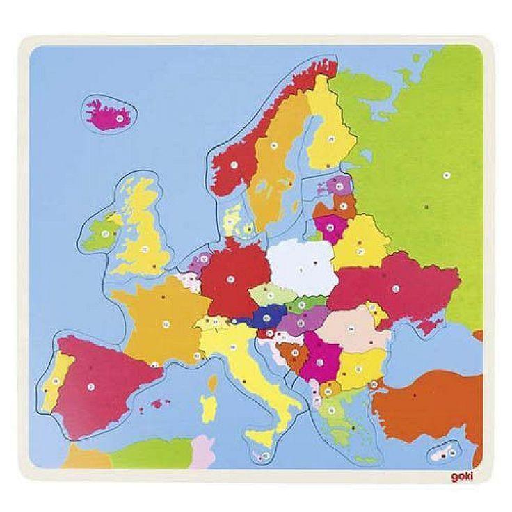 Goki, Puzzle, Mapa Europy, 35 elementów