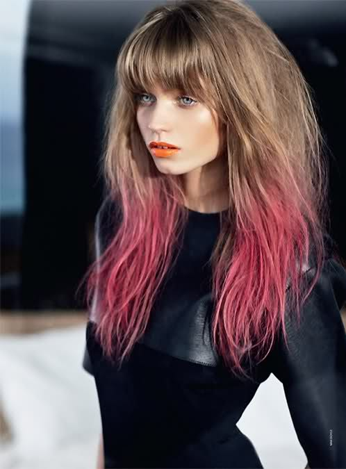 Abbey Lee Kershaw- hate the ombre, love the cut.