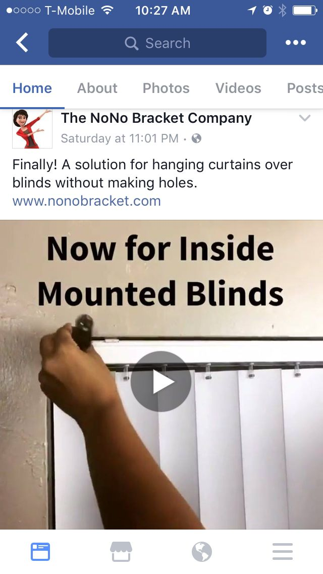 Hanging curtains over blinds