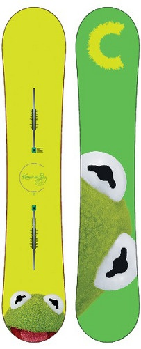 Kermit the Frog! Burton Custom Flying V Snowboard - Restricted -- Bob's Chalet Ski & Snowboard Online Store