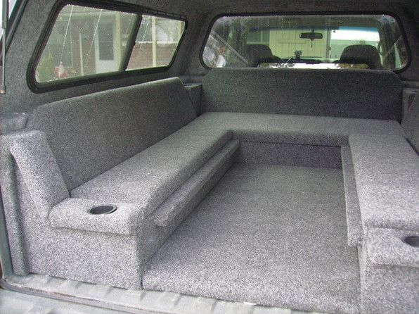 Kind of a neat idea for more seating for a truck bed.