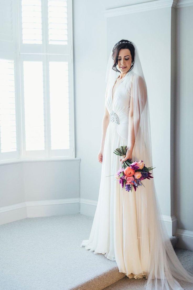 Natalie, Royal Mile, Edinburgh. City Chambers Wedding. Jenny Peckham dress