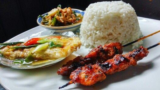 Chicken Satay Rice