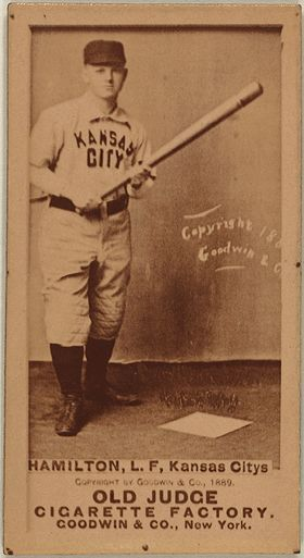 Billy Hamilton / He played for the Kansas City Cowboys, Philadelphia Phillies and Boston Beaneaters between 1888 and 1901. He was elected to the National Baseball Hall of Fame in 1961. As of 2014, he is third on the all-time list of career stolen bases leaders.  He is one of only three players to average more than one run per game played. His .455 career on-base percentage ranks fourth all-time behind Ted Williams, Babe Ruth and John McGraw.