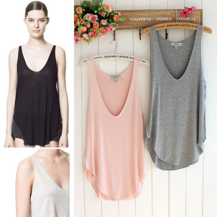 Free Shipping 1pc Fashion Summer Womens Sleeveless V Neck Vest Loose Tank Tops T shirt 5 Color A2745 A2749 on Aliexpress.com