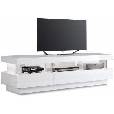 25+ best ideas about meuble tv blanc on pinterest | meuble tele ... - Meuble Tv Design Arrondi