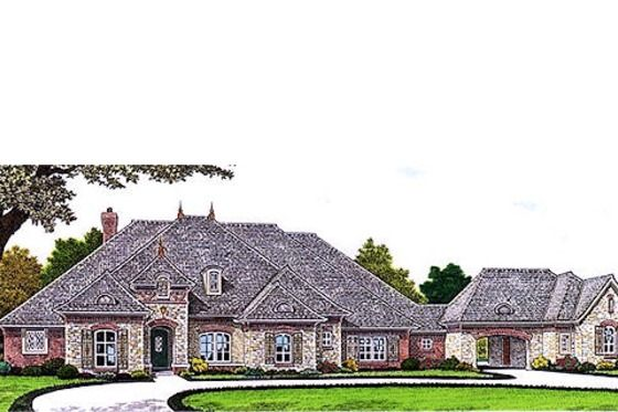 House plan 310 685 4 cars my future home pinterest for French country house plans with porte cochere