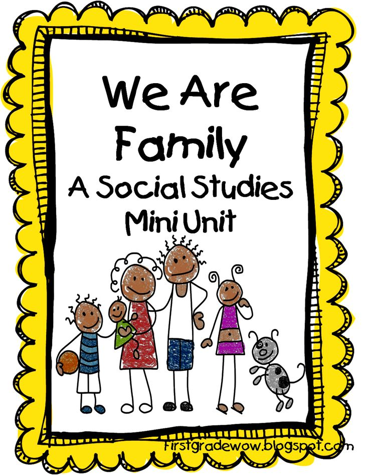 """We Are Family: A Social Studies Mini Unit"""
