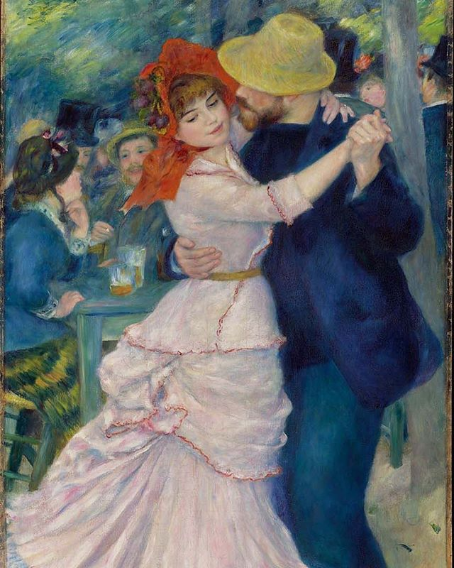 Impressionist Renoir/'s Dance at Bougival Counted Cross Stitch Chart  Pattern