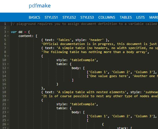 pdfmake, Create PDF Files With Javascript