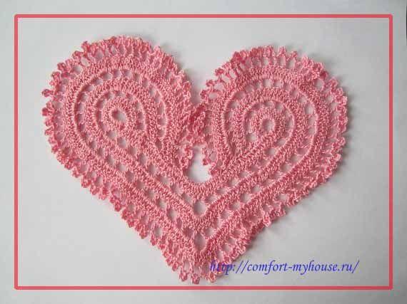 Ideas For, Вязаные Сердца,