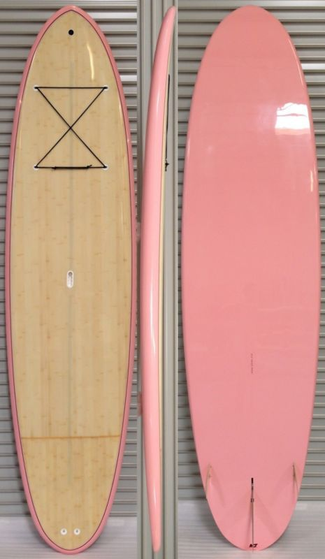 STAND UP PADDLEBOARD 10'6 Bamboo SUP Paddle Board Bag Deck Pad Fins Leash PCH