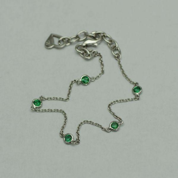 Bratara de aur alb 18k cu smaralde #bratariauralb #bratarasmaralde #smaralde #emeraldbracelet #emeralds