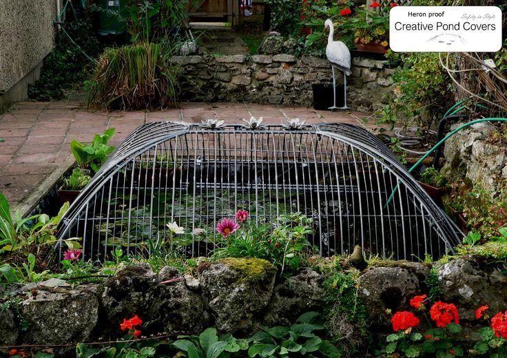 20 best pond ideas images on pinterest backyard ponds for Koi pond cover