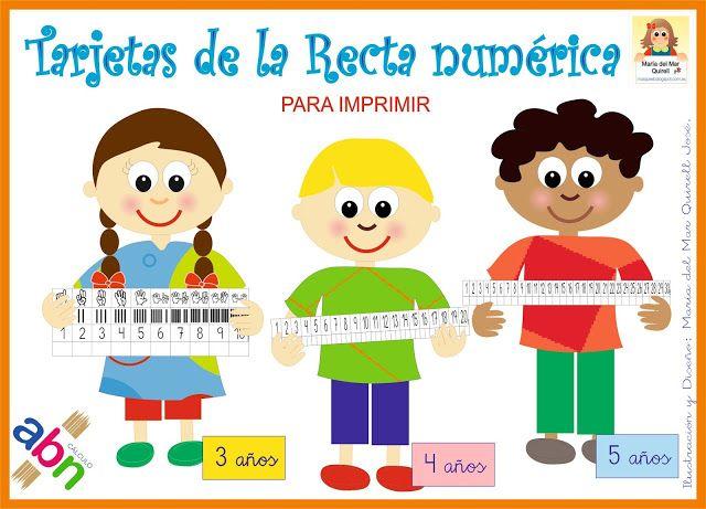 Un Mar De Ideas Para La Educación Infantil Tarjetas De La Recta Numérica Material Abn Para I Recta Numerica Metodo Abn Infantil Matematicas Infantil