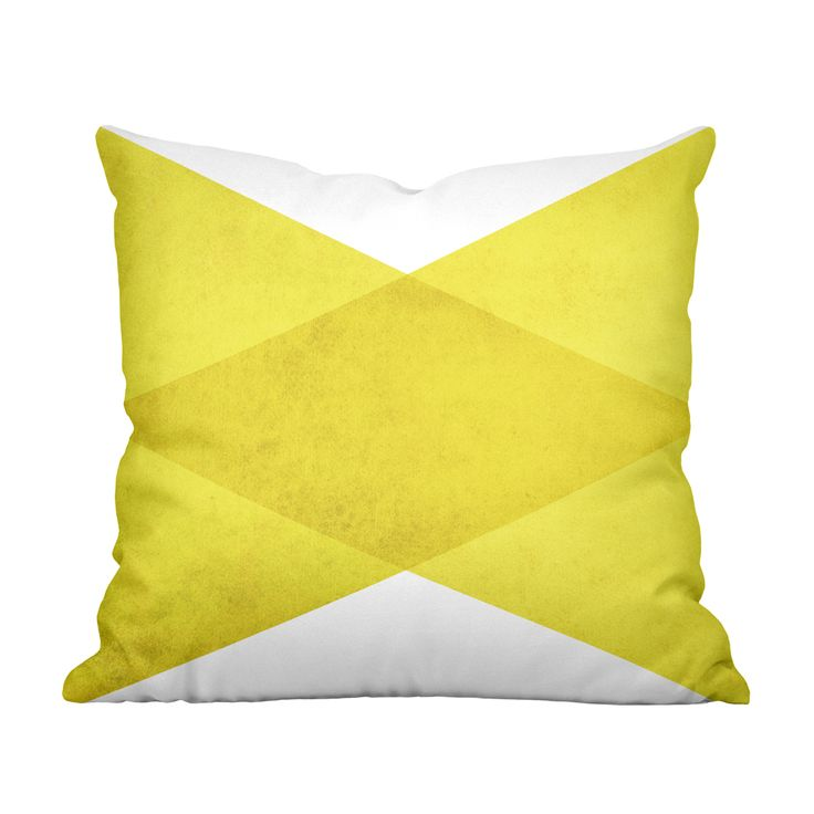 Slipcovers For Sofas A double sided print of overlapping triangles lends contemporary geometric flair to this Angles Pillow Yellow Throw