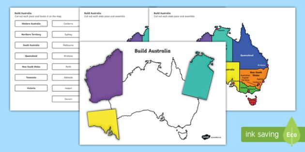 Australia Map Capitals.Build Australia States And Capital Cities Map Jigsaw Puzzle