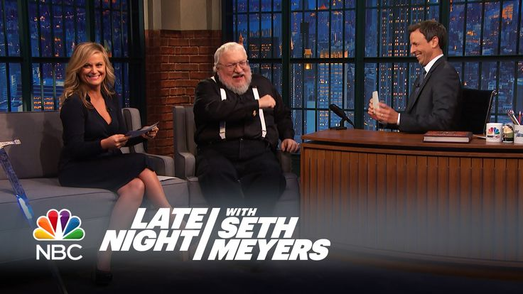 George R.R. Martin, Amy Poehler, and Seth Meyers Play 'Game of Thrones' Trivia on 'Late Night'
