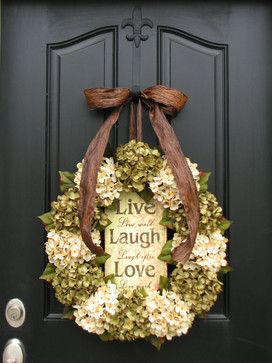 Fall Wreaths for Front Door Decorating - traditional - Spaces - Chicago - Twoinspireyou