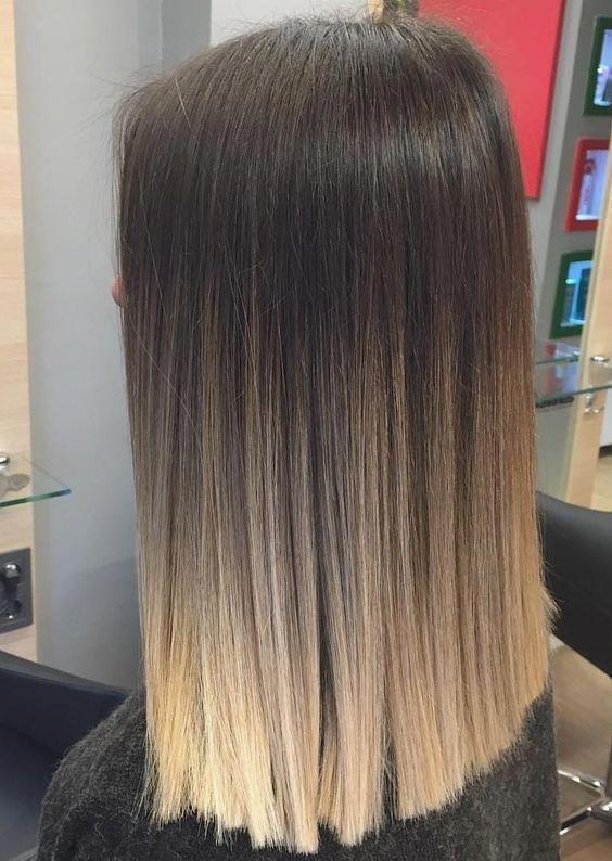 Sombra de cabelo liso, sombra de cabelo castanho, sombra de cabelo loiro.   – Frisuren