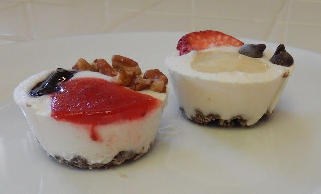 "Healthy Snacks: Frozen Faux ""Cheesecake"" Bites #Bariatric #Recipes"