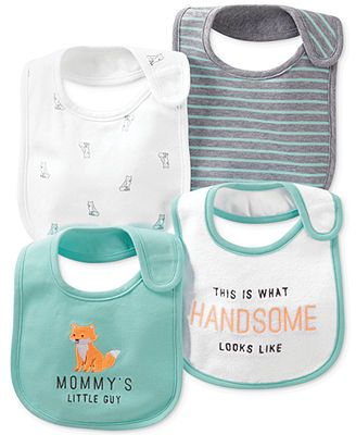 Carter's Baby Boys' 4-Pack Bibs