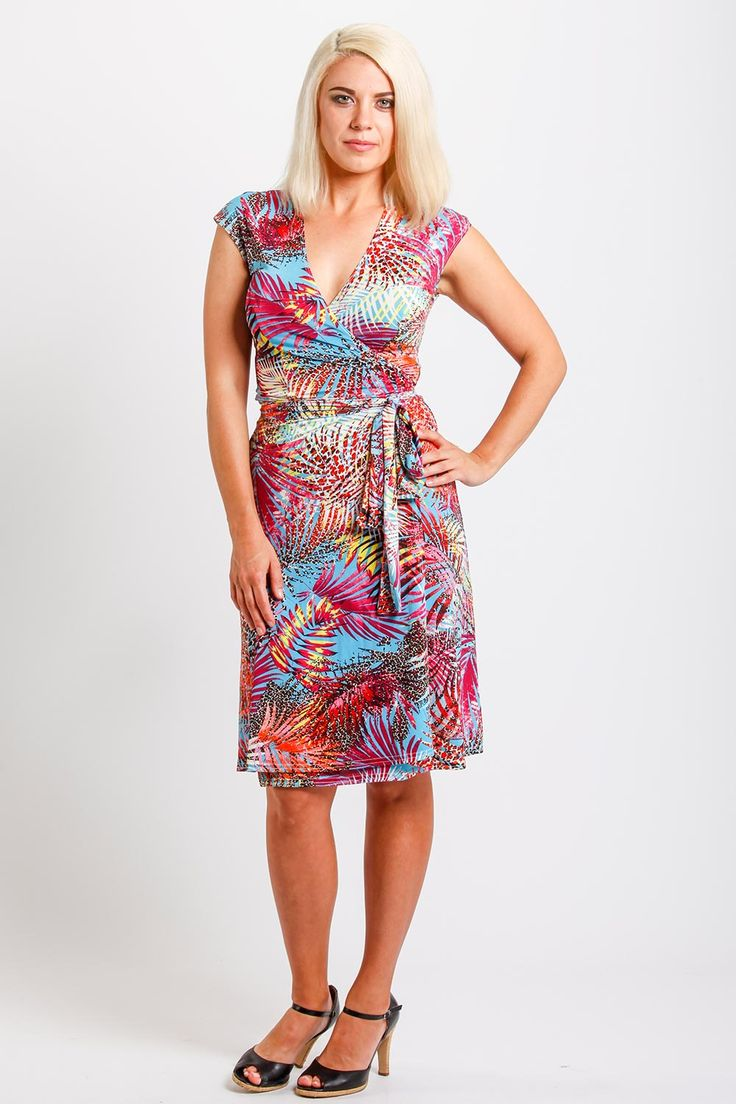 REBECCA RUBY - Palm Wrap Dress