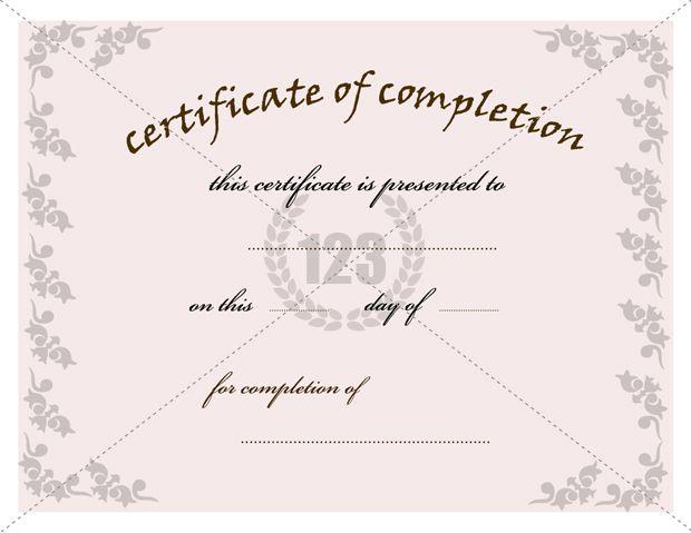 Die besten 25+ Certificate of completion template Ideen auf - free certificate of completion template