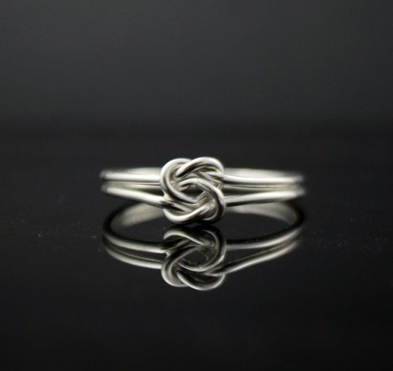 Heart ring knot ring