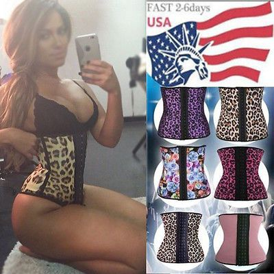 Latex Rubber Sport Body Shaper Waist Trainer Workout Corset Athletic Cincher WX