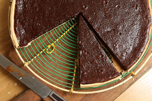 Chocolate Tart Recipe | David Lebovitz  Chocolate and caramel in a pie tart shell - oh, yes!