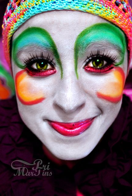 21 best clown schminken images on pinterest face paintings make up looks and artistic make up. Black Bedroom Furniture Sets. Home Design Ideas