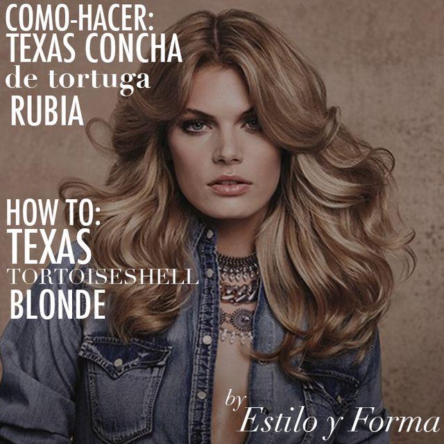 COMO-HACER TEXAS CONCHA DE TORTUGA RUBIA | HOW-TO: TEXAS TORTOISESHELL BLONDE