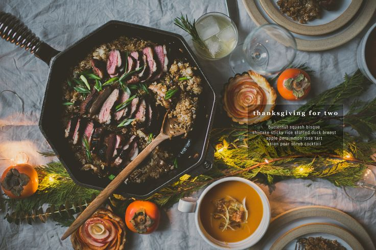 Thanksgiving For Two Shiitake Sticky Rice Stuffed Duck Breast | bettysliu.com