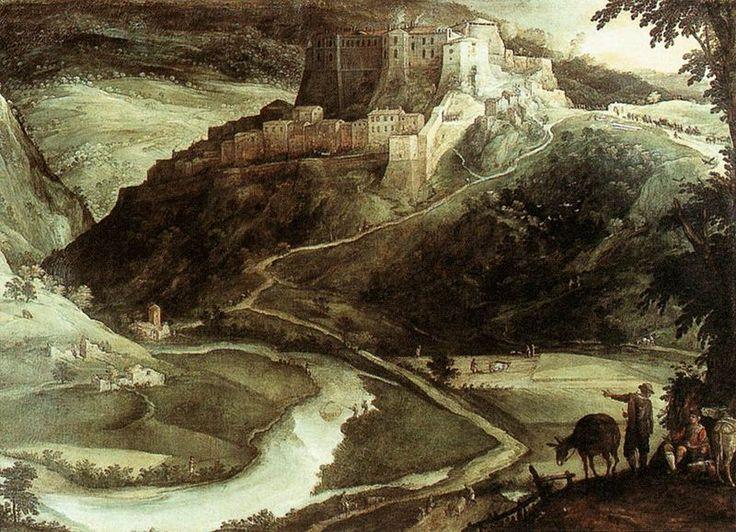 Paul Bril (circa 1553/1554–1626)  Feudo di Rocca Sinibalda Date1601 Mediumoil on canvas DimensionsHeight: 155 cm (61 in). Width: 220 cm (86.6 in). Galleria Nazionale d'Arte Antica  Palazzo Barberini and Palazzo Corsini Rome, Italy