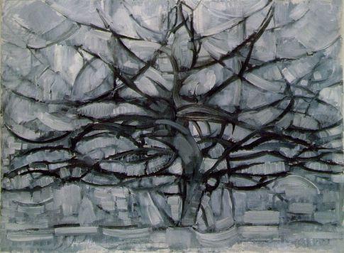 Серое дерево Мондриан